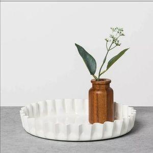 """Magnolia 9"""" round metal tray"""
